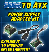 SEGA to ATX Power Supply Adapter kit - EXCLUSIVE TO HIGHWAY ENTERTAINMENT