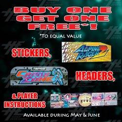 Arcade Game Artwork - Buy One, Get One Free