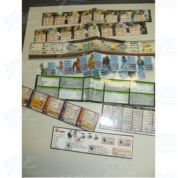 Assorted Set of Player Instructions and Stickers - Japanese