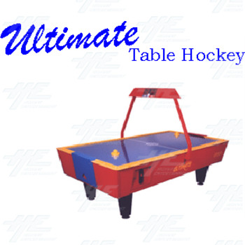Gamemasters Ultimate Air Hockey Table (Red Base with Blue Top)