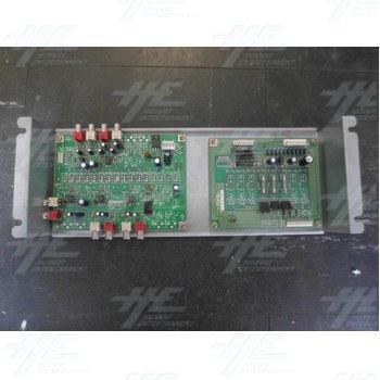 Konami GN845-PWB(C) PCB and Konami GX874-PWB(K)A PCB