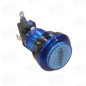Player 1 (P1) Push Button for Arcade Machines - Blue Illuminated