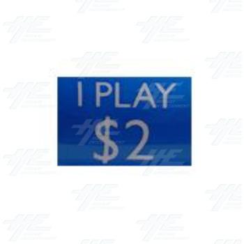 $2 = 1play sticker
