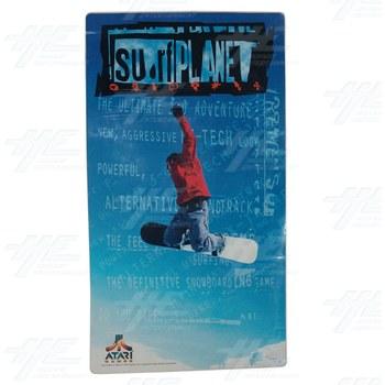 Surf Planet Side Cabinet Sticker