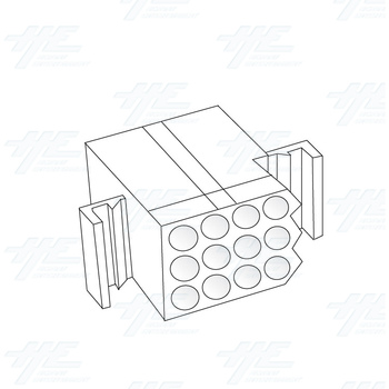 MOLEX 12 Way Plug Housing - 03-09-2122