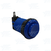 Arcade Push Button with Microswitch - Blue