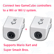 Mayflash Gamecube Controller Adapter For Wii & Wii U (Dual Pack), White