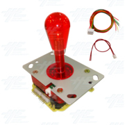 Red Illuminated Joystick for Arcade Machine