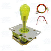 Yellow Illuminated Joystick for Arcade Machine