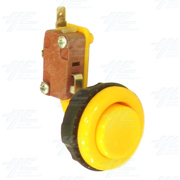 Pushbutton for Short Arcade Panel with Microswitch - Yellow