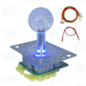 Multi-coloured Illuminated Joystick with Clear Bubble Top for Arcade Machine