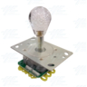 Short Bat Clear Bubble Top Multi-coloured Illuminated Joystick for Arcade Machine
