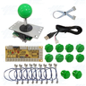 DIY Green Arcade Joystick and Buttons Kit for Arcade Machines