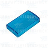 Button Covers Clear Blue - Rectangular