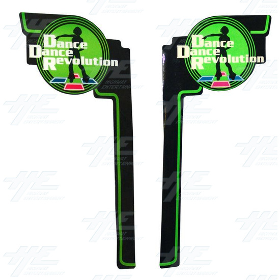 Left and Right Side Cabinet Sticker Kit - Dance Dance Revolution (DDR) - Left and Right Kit