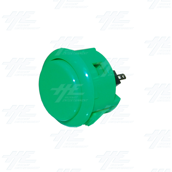 Sanwa Button OBSF-30 Green - Angle View