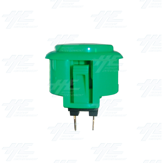 Sanwa Button OBSF-30 Green - Side View