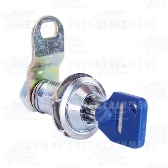 Solid Metal Door Key Security Lock - Angle View