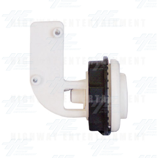 Pushbutton for Short Arcade Panel with Microswitch - White - Left View