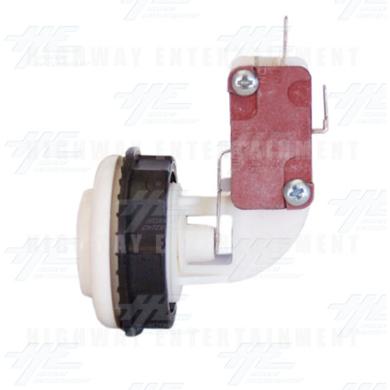 Pushbutton for Short Arcade Panel with Microswitch - White - Right View