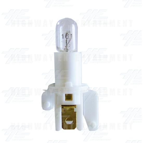Pushbutton Light Globe Holder with Globe -
