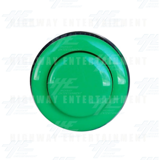 Pushbutton - Convex 34mm - Green - Front View