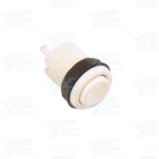 Pushbutton 34mm - Concave - White - Full View
