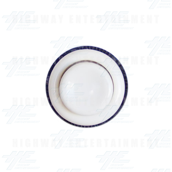 Pushbutton 34mm - Concave - White - Front View