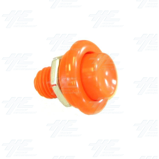 Pushbutton for Pinball Machine - Orange - Full View