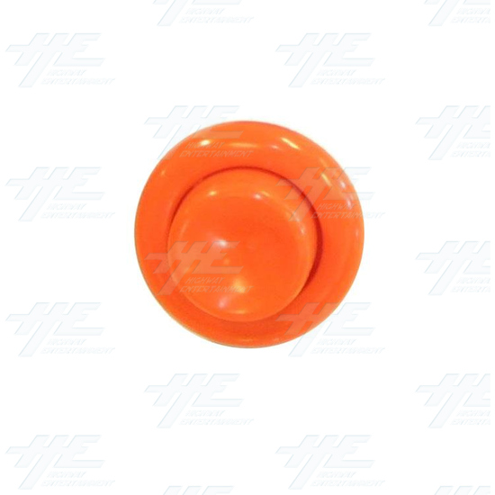 Pushbutton for Pinball Machine - Orange - Front View