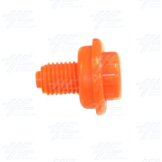 Pushbutton for Pinball Machine - Orange - Side View