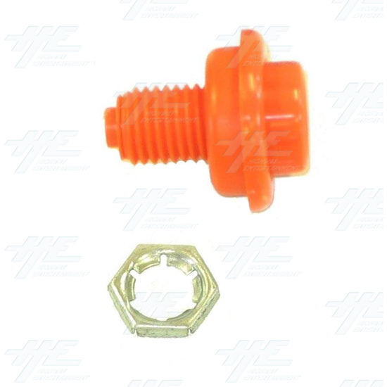Pushbutton for Pinball Machine - Orange - Full Kit