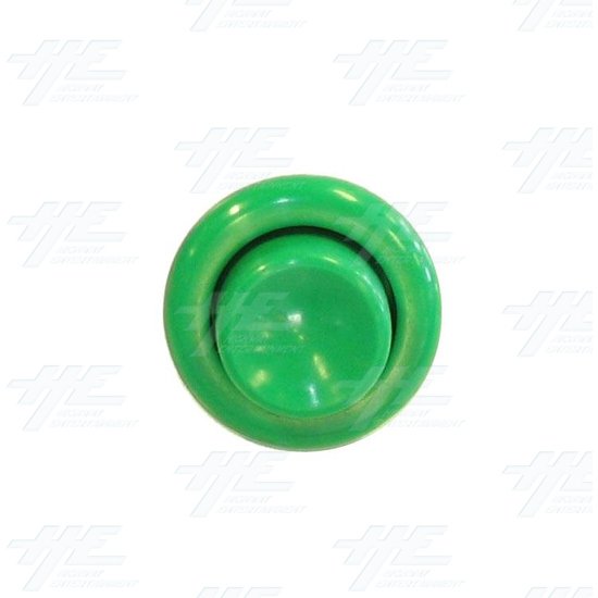 Pushbutton for Pinball Machine - Green - Front View