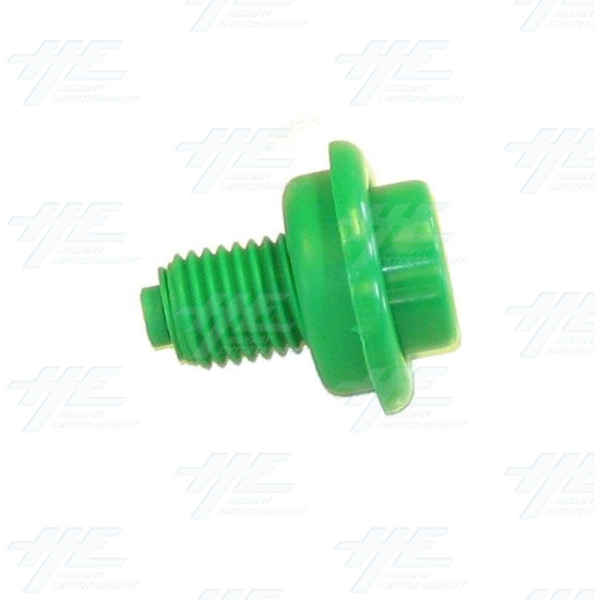 Pushbutton for Pinball Machine - Green - Side View