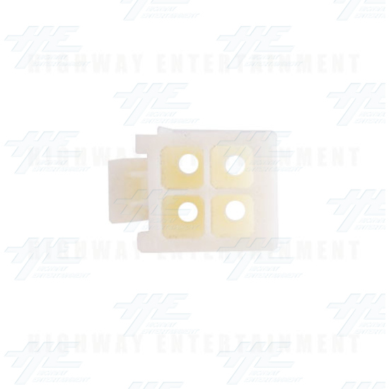 TYCO ELECTRONICS Universal Plug Housing, 4 Way Mate N Lok Plug - 172167-1 - Top View