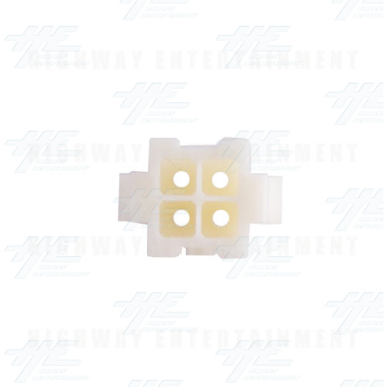 TYCO ELECTRONICS Universal Receptacle Housing, 4 Way Mate N Lok Plug - 172159-1 - Top View