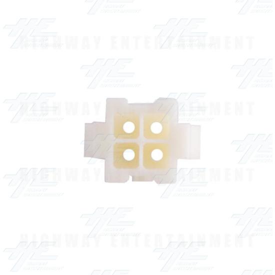 TYCO ELECTRONICS Universal Receptacle Housing, 4 Way Mate N Lok Plug - 172159-1 - Top View