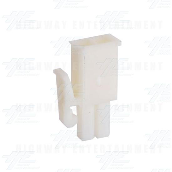 TYCO ELECTRONICS Universal Plug Housing, 2 Way Mate N Lok Plug - 172165-1 - Angle View