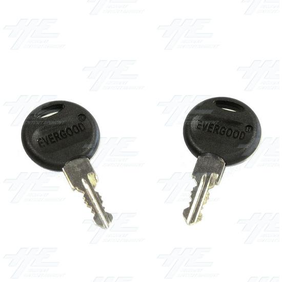 Chrome Flat Key Wafer Cam Lock - Key Series C10 - Keys
