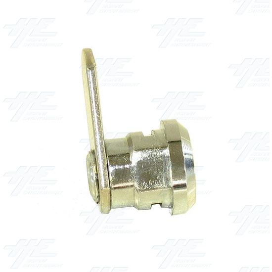 Chrome Flat Key Wafer Cam Lock - Key Series C13 - Side View