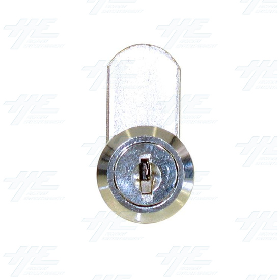 Chrome Flat Key Wafer Cam Lock - Key Series D55 - Front View
