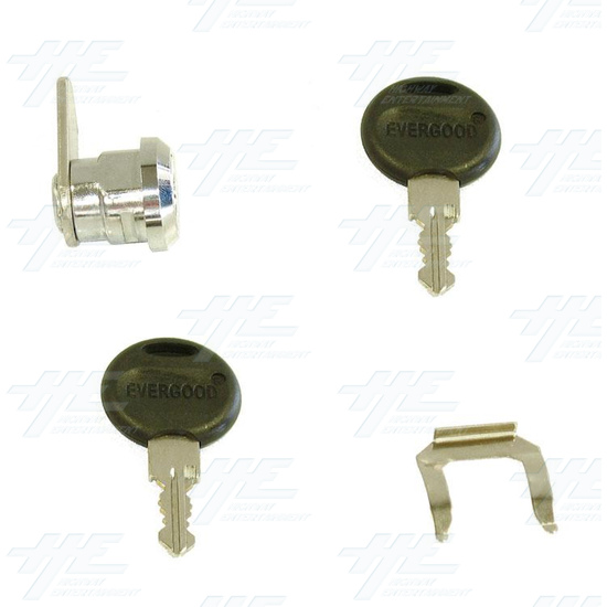 Chrome Flat Key Wafer Cam Lock - Key Series D55 - Full Kit