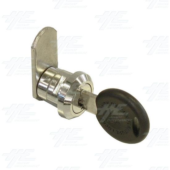 Chrome Flat Key Wafer Cam Lock - Key Series B43 - Full View