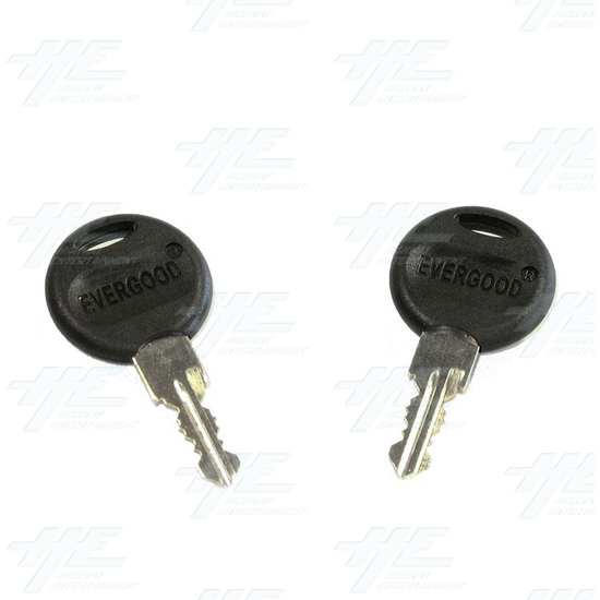 Chrome Flat Key Wafer Cam Lock - Key Series B44 - Keys