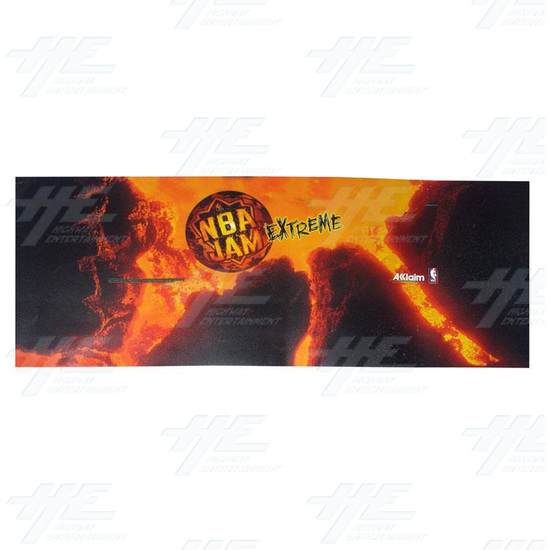 NBA Jam Extreme Control Panel Overlay Cabinet Sticker -