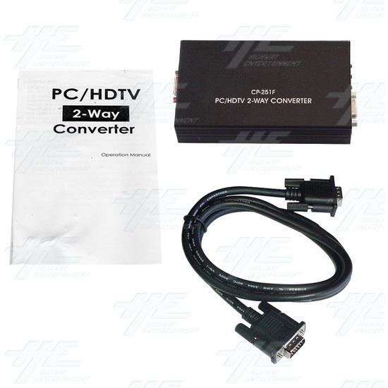 PC/HDTV to PC/HDTV converter (CP-251F) - Full kit