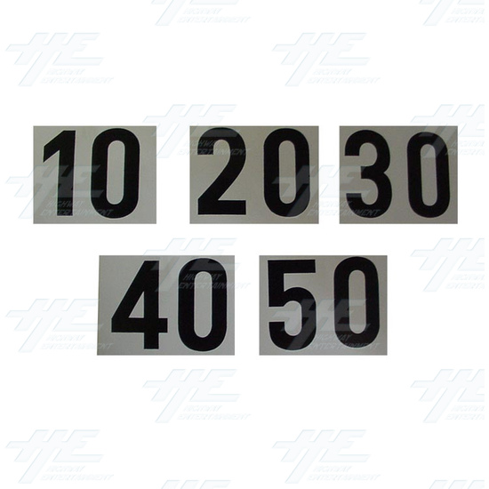 Stickers 10-20-30-40-50 -