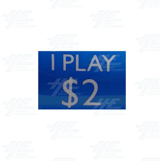 $2 = 1play sticker -