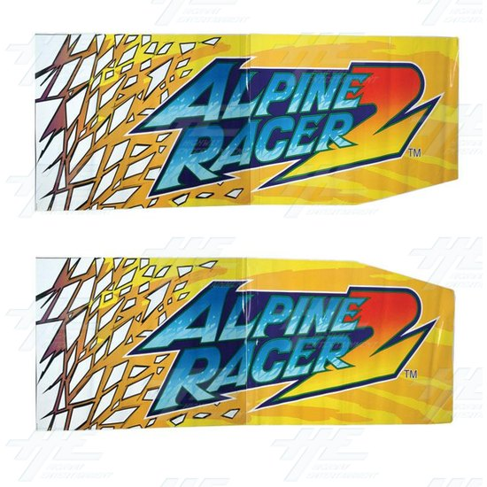 Alpine Racer 2 Cabinet Sticker Kit -