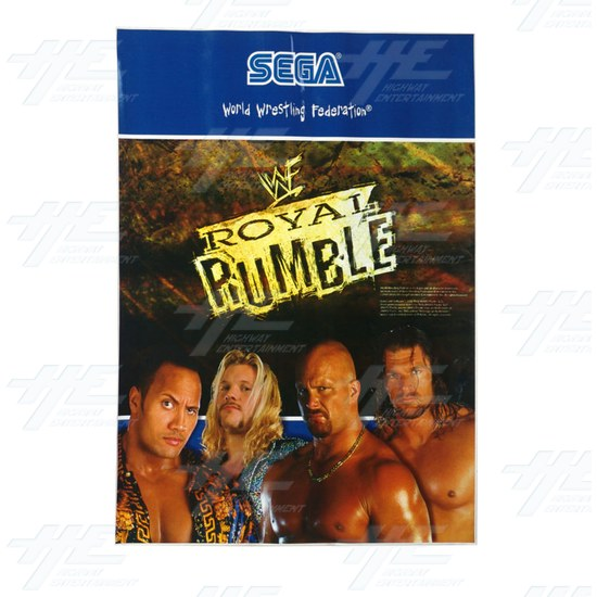 WWF Royal Rumble Cabinet Sticker -